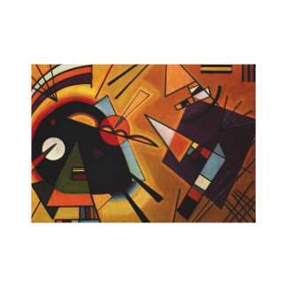 Kandinsky Black and Violet Canvas Print