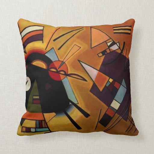 Kandinsky Black and Violet Pillow