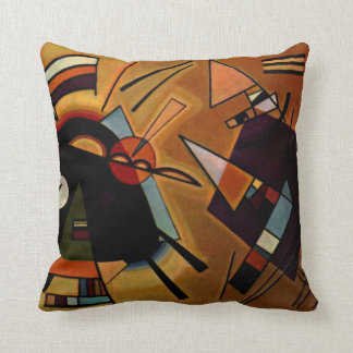 Kandinsky - Black and Violet Pillow