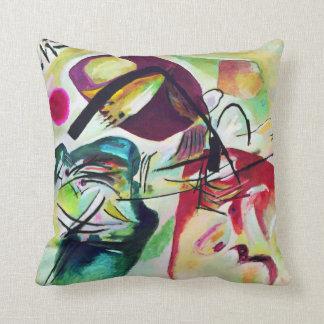 Kandinsky Black Arch Throw Pillow