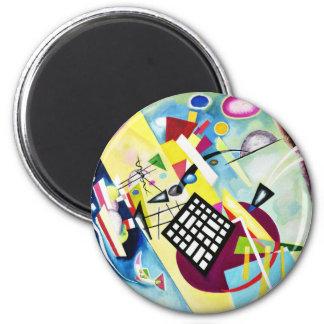 Kandinsky Black Grid Magnet