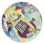 Kandinsky Black Grid Plate