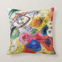 Kandinsky Black Lines Throw Pillow