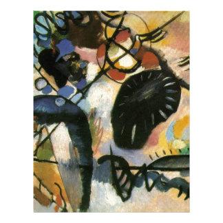 Kandinsky Black Spot Abstract Artwork Letterhead