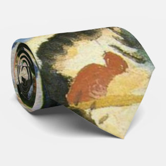 Kandinsky Black Spot Abstract Artwork Neck Tie