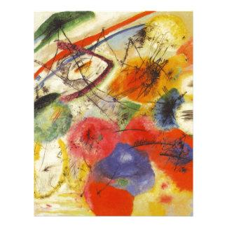 Kandinsky Black Strokes Abstract Painting Letterhead