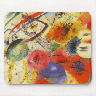 Kandinsky Black Strokes Abstract Painting Mouse Pad