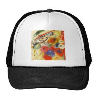 Kandinsky Black Strokes Abstract Painting Trucker Hat
