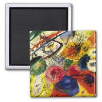 Kandinsky - Black Strokes Magnet