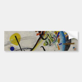 Kandinsky Blue Segment Bumper Sticker