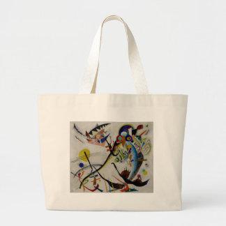 Kandinsky Blue Segment Large Tote Bag