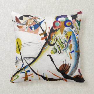 Kandinsky Blue Segment Throw Pillow