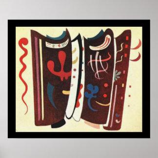 Kandinsky Brown con la pintura del extracto del Póster
