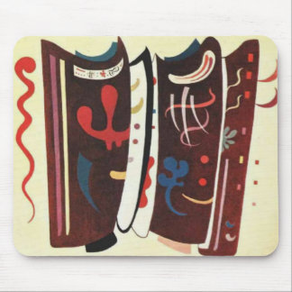 Kandinsky Brown with Supplement Abstract Mouse Pad