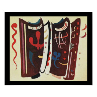 Kandinsky Brown with Supplement Abstract Painting Poster