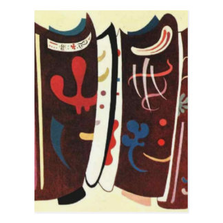 Kandinsky Brown with Supplement Abstract Postcard