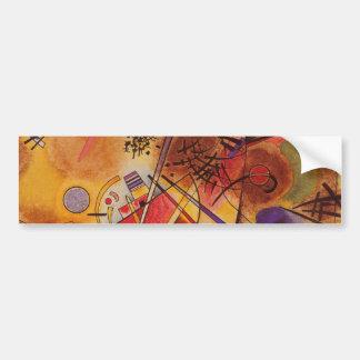 Kandinsky Brown Yellow Red Blue Bumper Sticker