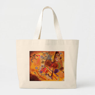 Kandinsky Brown Yellow Red Blue Large Tote Bag