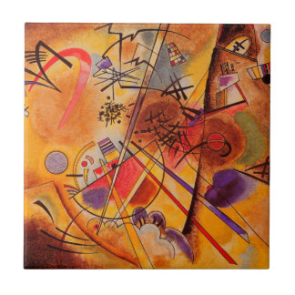 Kandinsky Brown Yellow Red Blue Tile