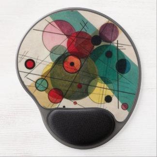 Kandinsky Circles in a Circle Gel Mousepad