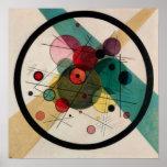 Kandinsky Circles in a Circle Painting Poster