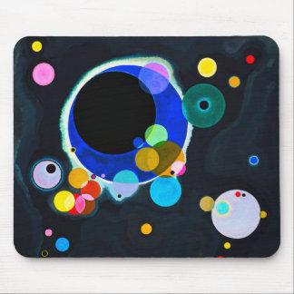 Kandinsky cojín de ratón de varios círculos tapetes de ratón