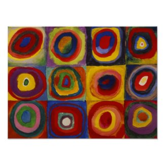 Kandinsky Color Study of Squares Circles Poster