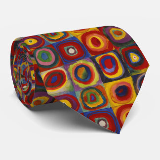 Kandinsky Color Study of Squares Circles Tie