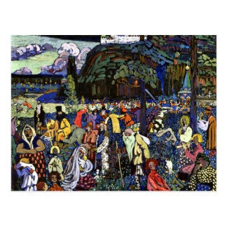 Kandinsky - Colorful Life Postcard