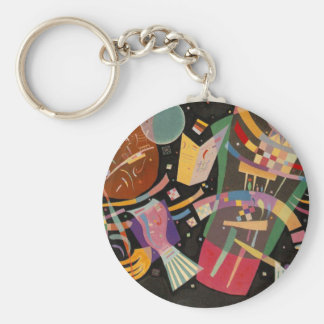 Kandinsky Composition 10 Abstract Painting Basic Round Button Keychain