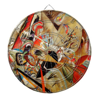 Kandinsky Composition Abstract Dartboard With Darts