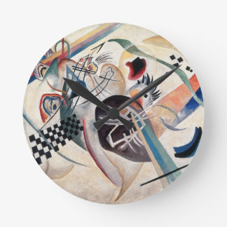 Kandinsky Composition Abstract Round Clock