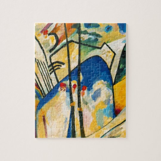 Kandinsky composition iv jigsaw puzzle zazzle for Puzzle kandinsky