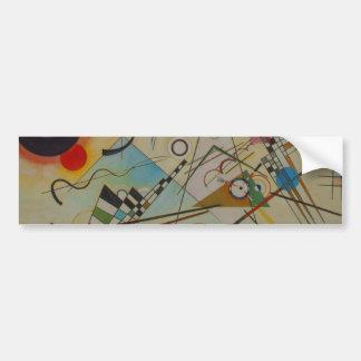 Kandinsky Composition Oil Painting Bumper Sticker Car Bumper Sticker