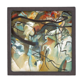 Kandinsky Composition V Abstract Painting Jewelry Box