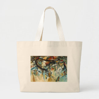 Kandinsky Composition V Abstract Painting Large Tote Bag