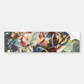 Kandinsky Composition VI Abstract Painting Bumper Sticker