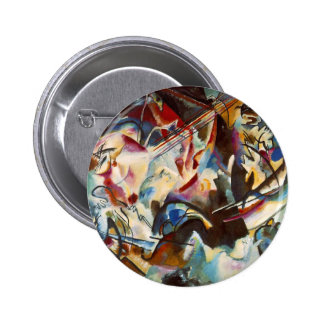 Kandinsky Composition VI Abstract Painting Button