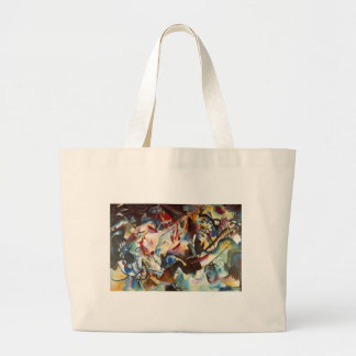 Kandinsky Composition VI Abstract Painting Large Tote Bag