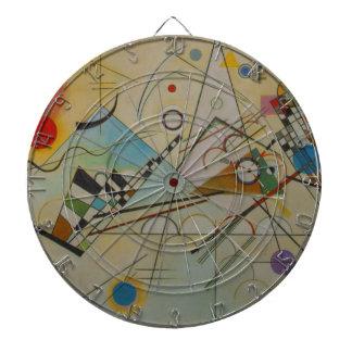 Kandinsky Composition VIII Dartboard With Darts