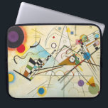 """Kandinsky Composition VIII Laptop Sleeve<br><div class=""""desc"""">Wassily Kandinsky Composition VIII laptop sleeve. Oil painting on canvas from 1923. Kandinsky created some of the most famous abstract paintings of the twentieth century, and Composition VIII is certainly among them. Full of arresting black lines and intriguing shapes, the painting moves with a sense of life and vibrance provided...</div>"""