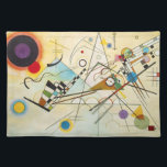 """Kandinsky Composition VIII Placemat<br><div class=""""desc"""">Wassily Kandinsky Composition VIII placemat. Oil painting on canvas from 1923. Kandinsky created some of the most famous abstract paintings of the twentieth century, and Composition VIII is certainly among them. Full of arresting black lines and intriguing shapes, the painting moves with a sense of life and vibrance provided by...</div>"""