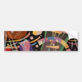 Kandinsky Composition X Abstract Artwork Bumper Sticker