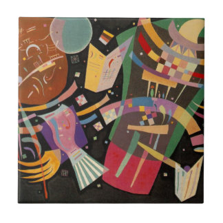 Kandinsky Composition X Abstract Artwork Ceramic Tile
