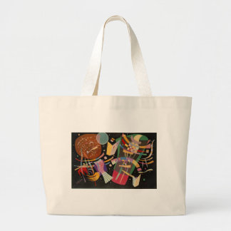 Kandinsky Composition X Abstract Artwork Large Tote Bag