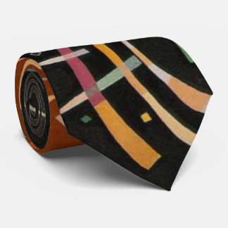 Kandinsky Composition X Abstract Artwork Tie