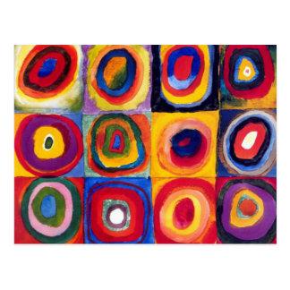 Kandinsky Concentric Circles Postcard