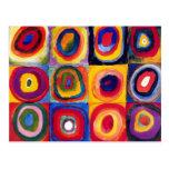 Kandinsky Concentric Circles Postcard Postcard