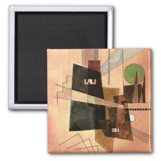 Kandinsky - Concentric 2 Inch Square Magnet
