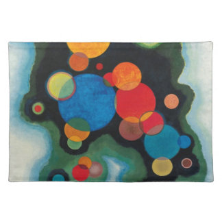 Kandinsky Deepened Impulse Abstract Oil on Canvas Cloth Placemat